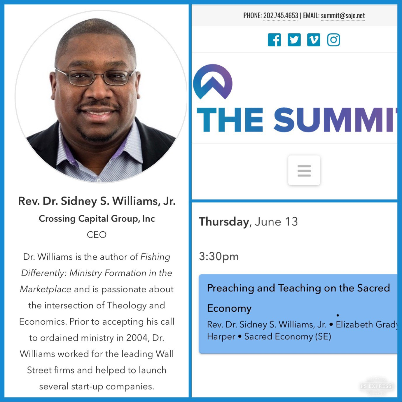 Sidney Williams Preaching and Teaching on the Sacred Economy Summit Conference